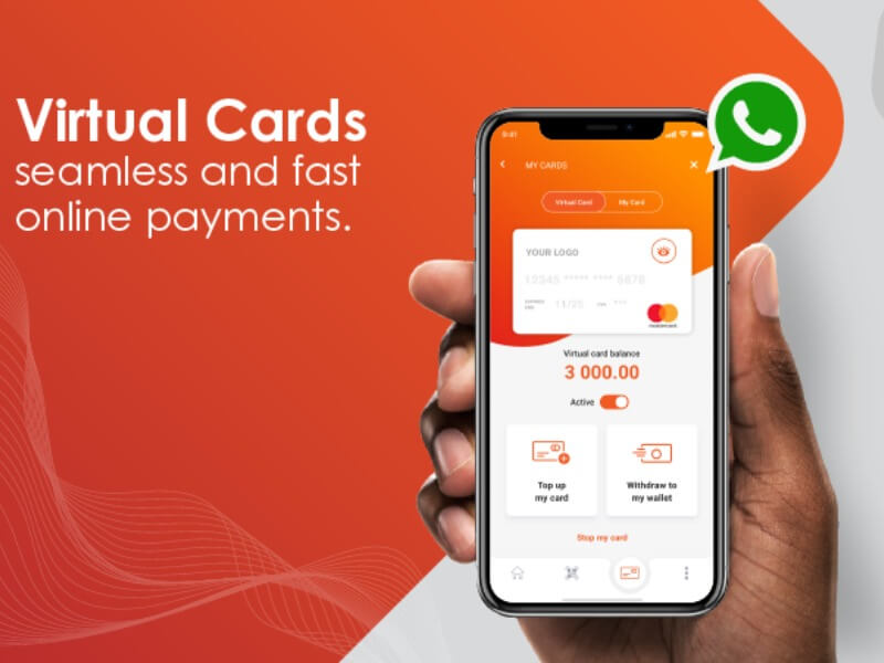 Africa's first virtual card for transacting on WhatsApp